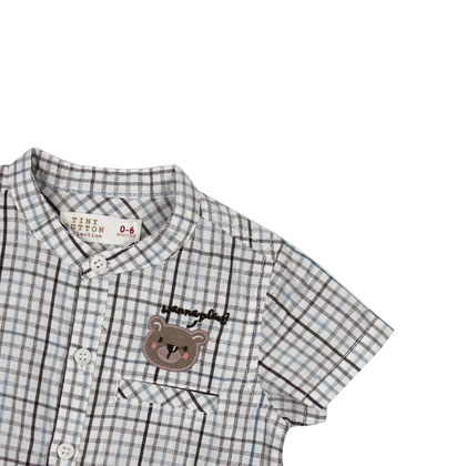 Checkered Collar Shirt for infant