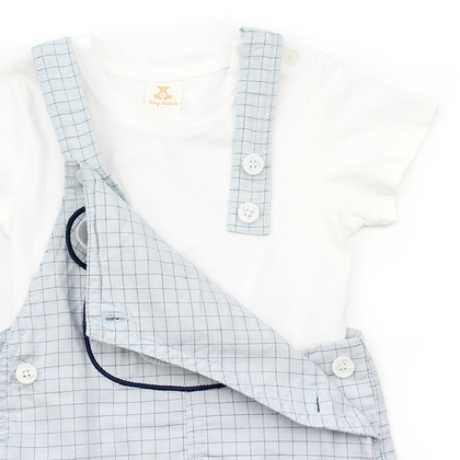 Embroidered Bear Dungaree