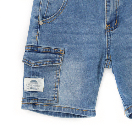 Jeans Shorts with Canvas Patch