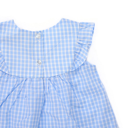 Embroidered Gingham Suit
