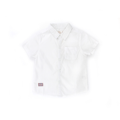 Collar Shirt with Embroidery Patch
