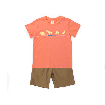 Graphic T-Shirt With Bermuda Shorts Suit