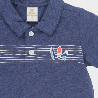 Jersey Polo with Graphic Prints