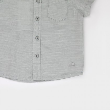 Collar Shirt with Embroidery