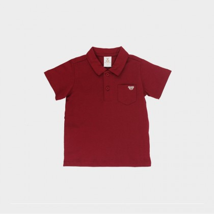 Jersey Polo with Embroidery on Pocket