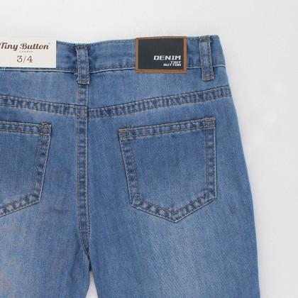 Embroidery Slim Fit Jeans